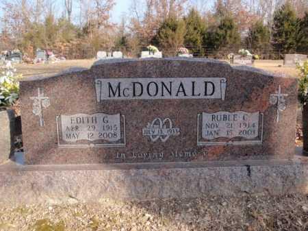 MCDONALD, RUBLE C. - Boone County, Arkansas   RUBLE C. MCDONALD - Arkansas Gravestone Photos
