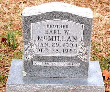MCMILLAN, EARL  W. - Boone County, Arkansas   EARL  W. MCMILLAN - Arkansas Gravestone Photos