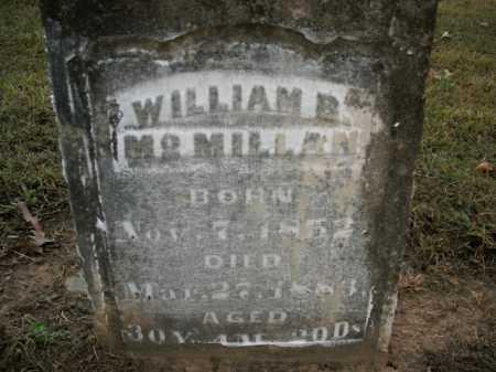 MCMILLAN, WILLIAM B. - Boone County, Arkansas | WILLIAM B. MCMILLAN - Arkansas Gravestone Photos