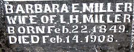 MILLER, BARBARA ELLEN - Boone County, Arkansas   BARBARA ELLEN MILLER - Arkansas Gravestone Photos