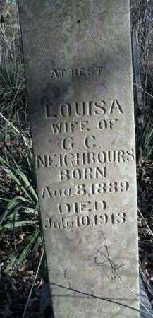 NEIGHBOURS, LOUISA - Boone County, Arkansas   LOUISA NEIGHBOURS - Arkansas Gravestone Photos