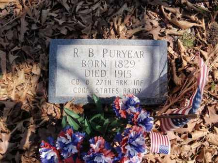 PURYEAR  (VETERAN CSA), R B - Boone County, Arkansas | R B PURYEAR  (VETERAN CSA) - Arkansas Gravestone Photos