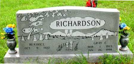 RICHARDSON, GRAY C. - Boone County, Arkansas   GRAY C. RICHARDSON - Arkansas Gravestone Photos