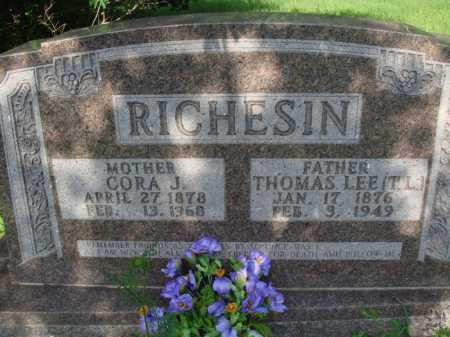 RICHESIN, CORA JANE - Boone County, Arkansas   CORA JANE RICHESIN - Arkansas Gravestone Photos