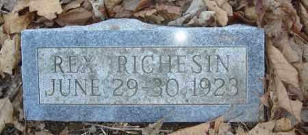 RICHESIN, REX - Boone County, Arkansas   REX RICHESIN - Arkansas Gravestone Photos