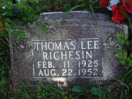 RICHESIN, THOMAS LEE - Boone County, Arkansas   THOMAS LEE RICHESIN - Arkansas Gravestone Photos
