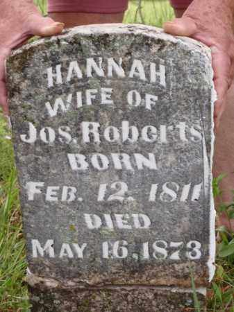 ROBERTS, HANNAH - Boone County, Arkansas   HANNAH ROBERTS - Arkansas Gravestone Photos