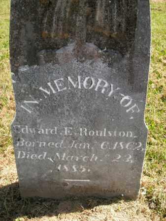 ROULSTON, EDWARD E. - Boone County, Arkansas   EDWARD E. ROULSTON - Arkansas Gravestone Photos