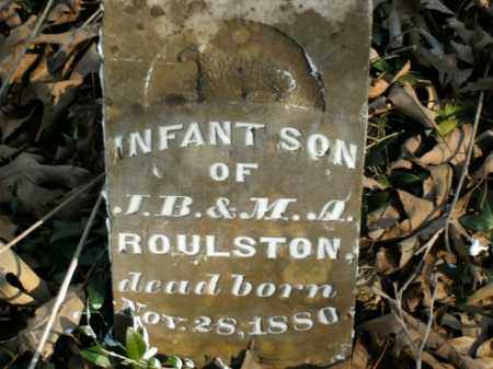 ROULSTON, INFANT SON - Boone County, Arkansas | INFANT SON ROULSTON - Arkansas Gravestone Photos