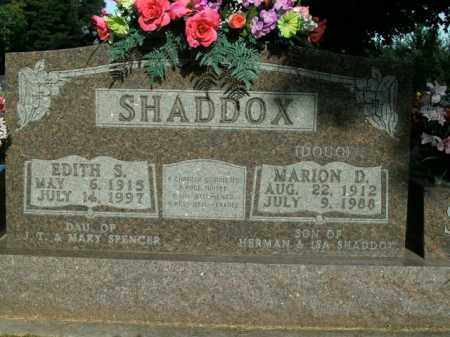 SHADDOX, MARION D. - Boone County, Arkansas | MARION D. SHADDOX - Arkansas Gravestone Photos