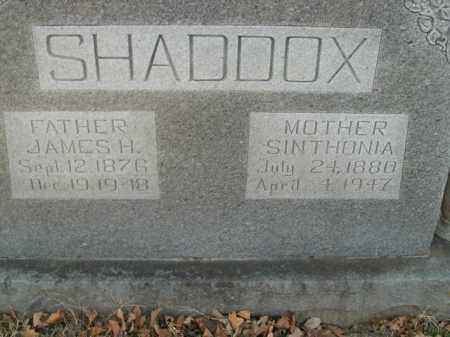 SHADDOX, JAMES H. - Boone County, Arkansas | JAMES H. SHADDOX - Arkansas Gravestone Photos