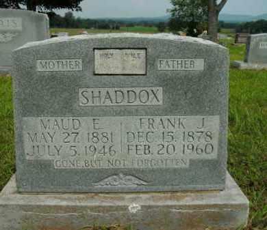 SHADDOX, FRANK J. - Boone County, Arkansas   FRANK J. SHADDOX - Arkansas Gravestone Photos