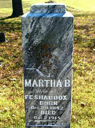 SHADDOX, MARTHA  B. - Boone County, Arkansas | MARTHA  B. SHADDOX - Arkansas Gravestone Photos