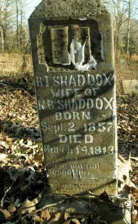 SHADDOX, R.I. - Boone County, Arkansas | R.I. SHADDOX - Arkansas Gravestone Photos