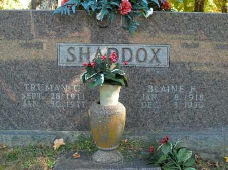 SHADDOX, BLAINE F. - Boone County, Arkansas   BLAINE F. SHADDOX - Arkansas Gravestone Photos