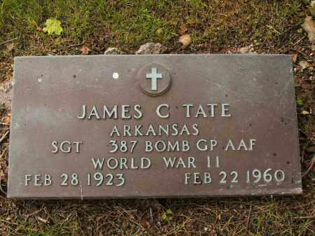 TATE  (VETERAN WWII), JAMES C - Boone County, Arkansas | JAMES C TATE  (VETERAN WWII) - Arkansas Gravestone Photos