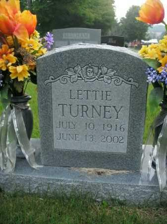 TURNEY, LETTIE - Boone County, Arkansas | LETTIE TURNEY - Arkansas Gravestone Photos
