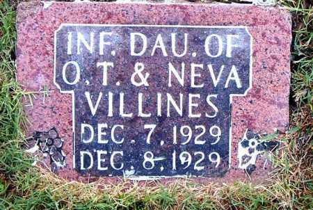 VILLINES, INFANT DAUGHTER - Boone County, Arkansas   INFANT DAUGHTER VILLINES - Arkansas Gravestone Photos