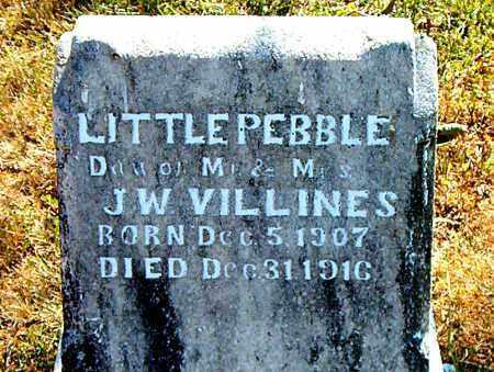VILLINES, PEBBLE - Boone County, Arkansas | PEBBLE VILLINES - Arkansas Gravestone Photos