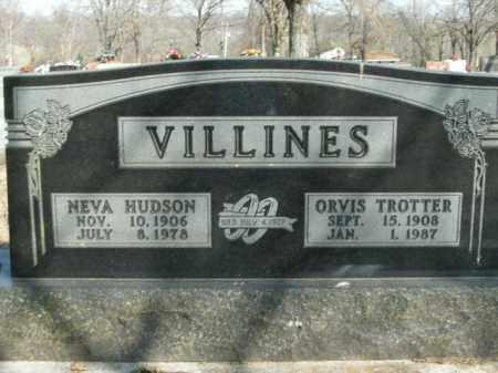 VILLINES, ORVIS TROTTER - Boone County, Arkansas | ORVIS TROTTER VILLINES - Arkansas Gravestone Photos