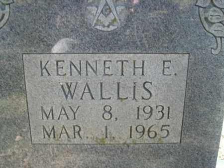 WALLIS, KENNETH E. - Boone County, Arkansas   KENNETH E. WALLIS - Arkansas Gravestone Photos