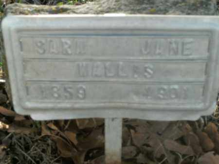 WALLIS, SARA JANE - Boone County, Arkansas   SARA JANE WALLIS - Arkansas Gravestone Photos