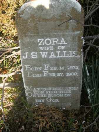 WALLIS, ZORA - Boone County, Arkansas   ZORA WALLIS - Arkansas Gravestone Photos