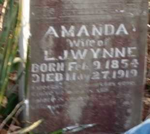 WYNNE, AMANDA - Boone County, Arkansas | AMANDA WYNNE - Arkansas Gravestone Photos