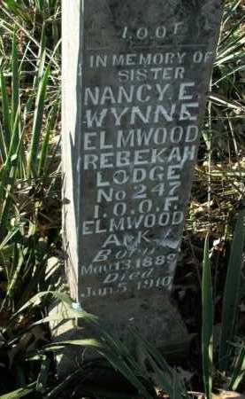 WYNNE, NANCY E. - Boone County, Arkansas   NANCY E. WYNNE - Arkansas Gravestone Photos