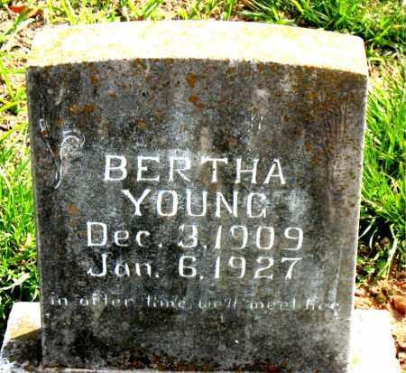 YOUNG, BERTHA - Boone County, Arkansas | BERTHA YOUNG - Arkansas Gravestone Photos