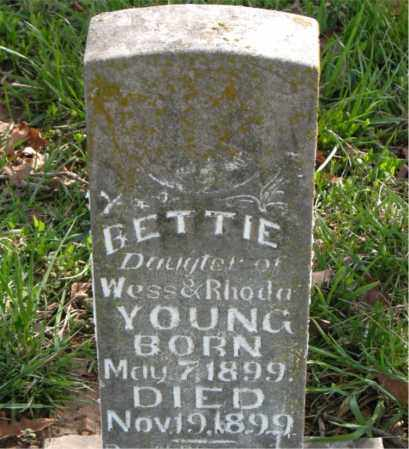 YOUNG, BETTIE - Boone County, Arkansas   BETTIE YOUNG - Arkansas Gravestone Photos