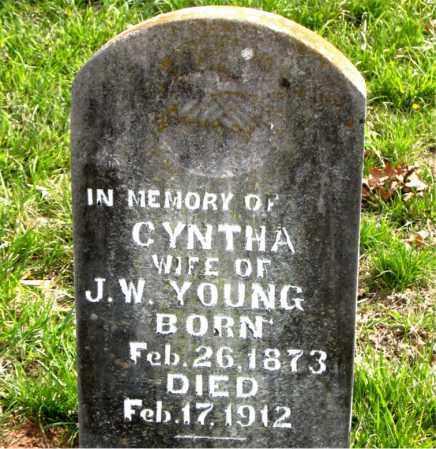 YOUNG, CYNTHA - Boone County, Arkansas | CYNTHA YOUNG - Arkansas Gravestone Photos