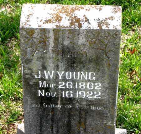 YOUNG, JAMES WESLEY - Boone County, Arkansas   JAMES WESLEY YOUNG - Arkansas Gravestone Photos
