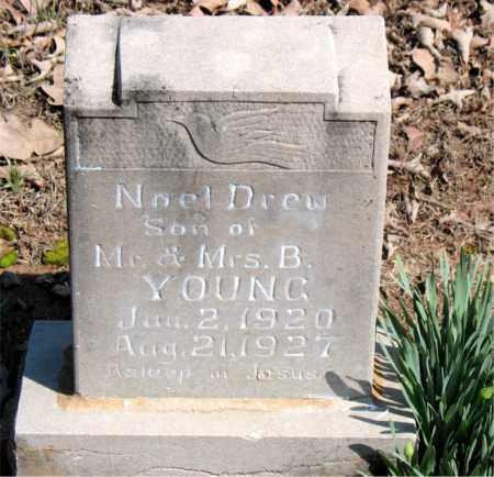 YOUNG, NOEL DREW - Boone County, Arkansas   NOEL DREW YOUNG - Arkansas Gravestone Photos