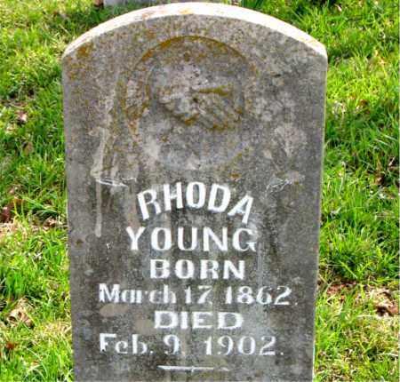 JONES YOUNG, RHODA LAVINA - Boone County, Arkansas   RHODA LAVINA JONES YOUNG - Arkansas Gravestone Photos