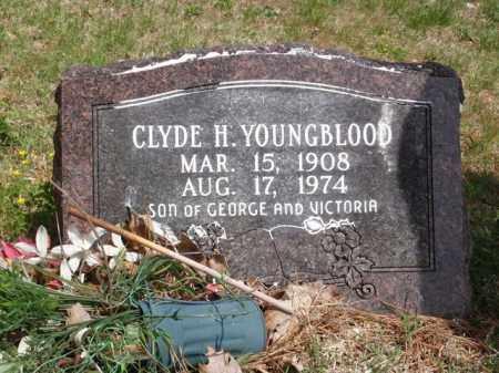 YOUNGBLOOD, CLYDE H. - Boone County, Arkansas   CLYDE H. YOUNGBLOOD - Arkansas Gravestone Photos