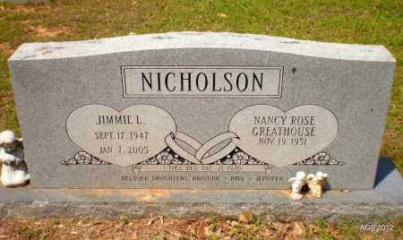 NICHOLSON, JIMMIE L - Bradley County, Arkansas | JIMMIE L NICHOLSON - Arkansas Gravestone Photos