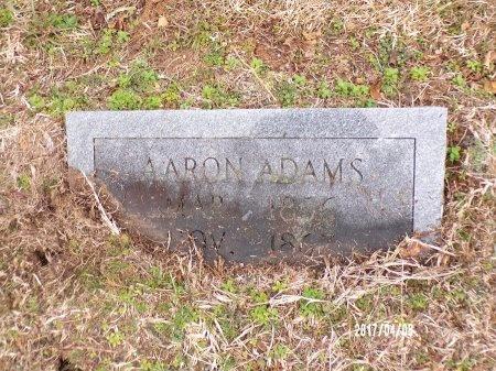 ADAMS, AARON - Bradley County, Arkansas | AARON ADAMS - Arkansas Gravestone Photos