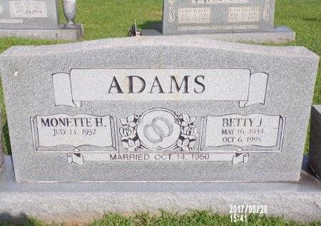 ADAMS, BETTY J - Bradley County, Arkansas   BETTY J ADAMS - Arkansas Gravestone Photos