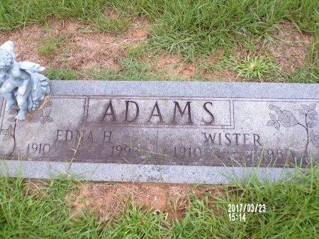 ADAMS, WISTER - Bradley County, Arkansas   WISTER ADAMS - Arkansas Gravestone Photos