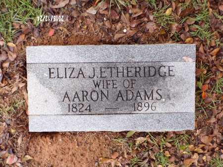 ADAMS, ELIZA J - Bradley County, Arkansas   ELIZA J ADAMS - Arkansas Gravestone Photos
