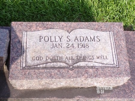 "ADAMS, HATTIE PAULINE ""POLLY"" - Bradley County, Arkansas | HATTIE PAULINE ""POLLY"" ADAMS - Arkansas Gravestone Photos"