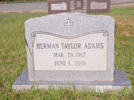 ADAMS, HERMAN TAYLOR - Bradley County, Arkansas   HERMAN TAYLOR ADAMS - Arkansas Gravestone Photos
