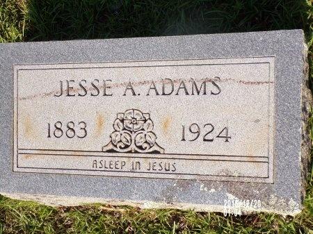 ADAMS, JESSE A - Bradley County, Arkansas   JESSE A ADAMS - Arkansas Gravestone Photos