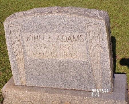 ADAMS, JOHN A - Bradley County, Arkansas | JOHN A ADAMS - Arkansas Gravestone Photos