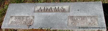 ADAMS, JAMES E - Bradley County, Arkansas | JAMES E ADAMS - Arkansas Gravestone Photos