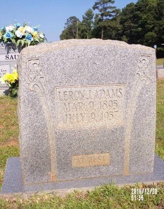 ADAMS, LEROY JACKSON - Bradley County, Arkansas | LEROY JACKSON ADAMS - Arkansas Gravestone Photos
