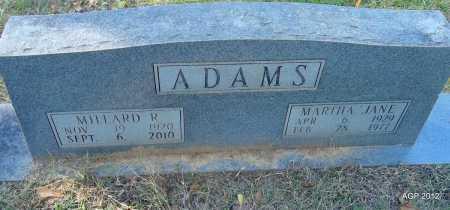 ADAMS, MARTHA JANE - Bradley County, Arkansas   MARTHA JANE ADAMS - Arkansas Gravestone Photos