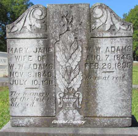 ADAMS, W W - Bradley County, Arkansas   W W ADAMS - Arkansas Gravestone Photos