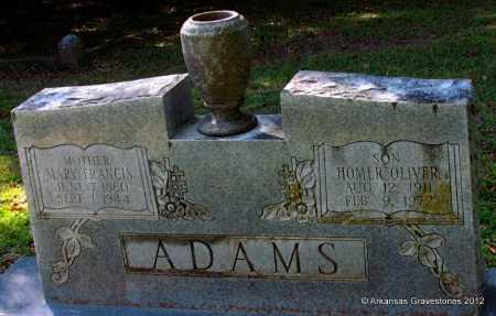 ADAMS, MARY FRANCIS - Bradley County, Arkansas | MARY FRANCIS ADAMS - Arkansas Gravestone Photos